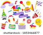 party label vector logo for... | Shutterstock .eps vector #1853466877