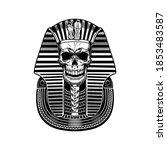 pharaoh skull vector... | Shutterstock .eps vector #1853483587