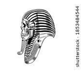 pharaoh skeleton vector... | Shutterstock .eps vector #1853484544