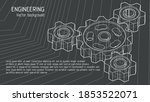 isometric 3d drawing of gears...   Shutterstock .eps vector #1853522071
