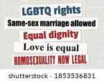 gay rights and lgbtq equality... | Shutterstock .eps vector #1853536831