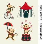 circus design over beige... | Shutterstock .eps vector #185354351