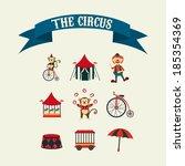 circus design over beige... | Shutterstock .eps vector #185354369