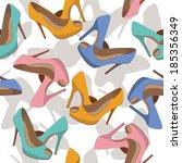 beautiful shoes pattern | Shutterstock .eps vector #185356349