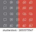 20 chat best icons set | Shutterstock .eps vector #1853575567