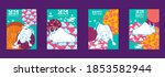 cover template set with... | Shutterstock .eps vector #1853582944