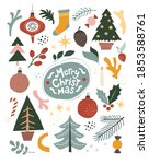 merry christmas abstract... | Shutterstock .eps vector #1853588761