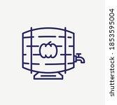 beer wood barrel vector line... | Shutterstock .eps vector #1853595004