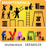 maintenance web site icon vector | Shutterstock .eps vector #185360129