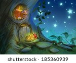 art background with funny... | Shutterstock . vector #185360939