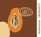 papaya. abstract modern vector... | Shutterstock .eps vector #1853614177