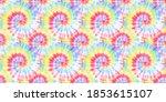 Watercolor Spiral. Vibrant...