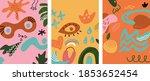 vector large set of three... | Shutterstock .eps vector #1853652454