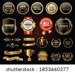 luxury badges and labels with... | Shutterstock . vector #1853660377