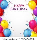 colorful birthday celebration... | Shutterstock . vector #1853664274