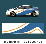 company branding car decal wrap ... | Shutterstock .eps vector #1853687401