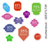 discount labels | Shutterstock .eps vector #185371739