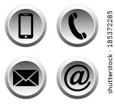 contact buttons set   email ... | Shutterstock .eps vector #185372285