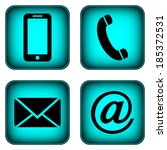 contact buttons set   email ...   Shutterstock . vector #185372531