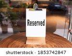 reserved sign  reservation... | Shutterstock . vector #1853742847