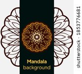 mandala design.background for... | Shutterstock .eps vector #1853776681