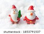 santa claus on snow christmas... | Shutterstock . vector #1853791537