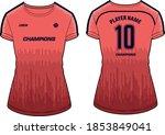 women sports t shirt jersey... | Shutterstock .eps vector #1853849041