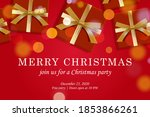 merry christmas web page... | Shutterstock .eps vector #1853866261