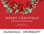 merry christmas web page... | Shutterstock .eps vector #1853866297