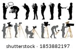 set of professional people with ... | Shutterstock .eps vector #1853882197