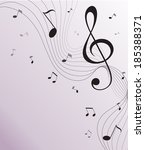paper background with music... | Shutterstock . vector #185388371