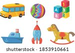 set of colorful toy icon... | Shutterstock .eps vector #1853910661