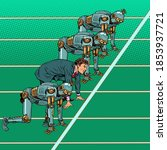 Humans Compete With Robots....