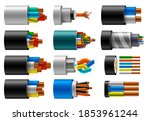 cable wire  electric  fiber or... | Shutterstock .eps vector #1853961244