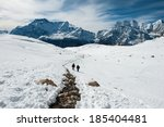 View of Annapurna range from Chulu Far East high camp, Nepal