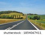 Asphalt Road Cutting Through...