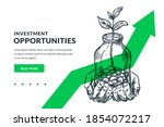 investment and finance growth... | Shutterstock .eps vector #1854072217