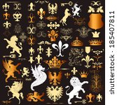 luxury heraldic elements for ... | Shutterstock .eps vector #185407811