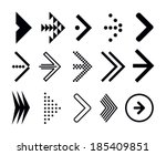 stock vector set of navigation... | Shutterstock .eps vector #185409851