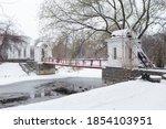 Russian Winter  River Bridge...