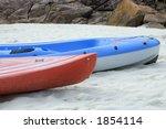 two kayaks on the beach | Shutterstock . vector #1854114