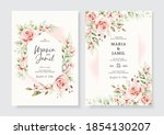 wedding invitation template... | Shutterstock .eps vector #1854130207