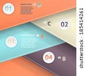 modern business origami style... | Shutterstock .eps vector #185414261