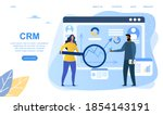crm or customer relationship... | Shutterstock .eps vector #1854143191