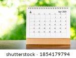 April 2021 Calendar Desk For...