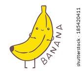 cute cartoon banana character   Shutterstock .eps vector #185420411