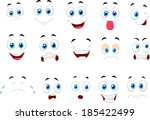 cartoon of various face... | Shutterstock .eps vector #185422499