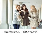 group of gladsome ladies... | Shutterstock . vector #185426591