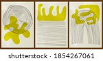 a set of three colorful...   Shutterstock .eps vector #1854267061