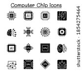 computer chips and electronic... | Shutterstock .eps vector #1854275464